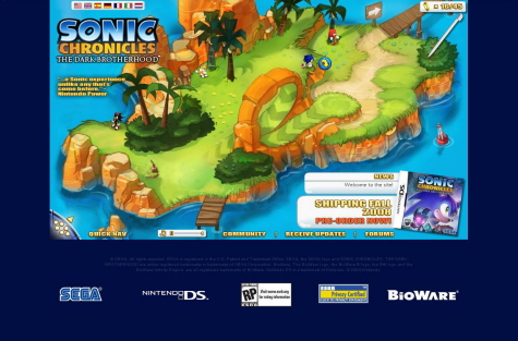 Official Sonic Chronicles Micro-Site