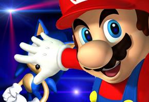 Mario Beats Sonic