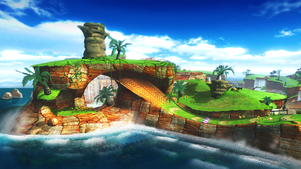 Reminds me of Resort Island from Sonic R.