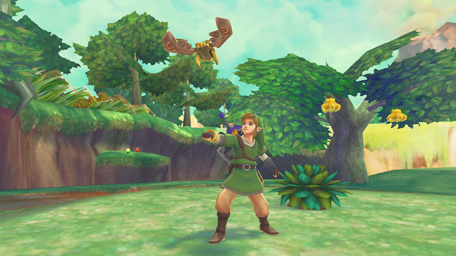 Skyward Sword combines the cel-shaded look of Wind Waker with the characters of Twilight Princess.
