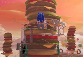 It's true, I like to appeal to my sweet tooth with hamburgers. Right before he drives over to the Sony press conference.