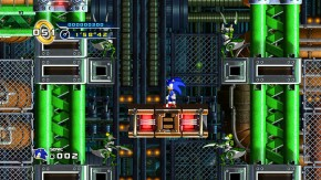 Mad Gear Zone is basically Sonic 2's Metropolis Zone, complete with mantis badniks, turning gears, and crushing pistons.