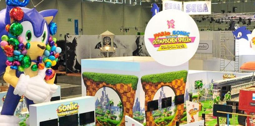 Setting the Sega Stage at Gamescom 2011