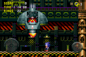 Wacky Workbench might just be the worst level in all Sonic history. (Picture from iOS version)