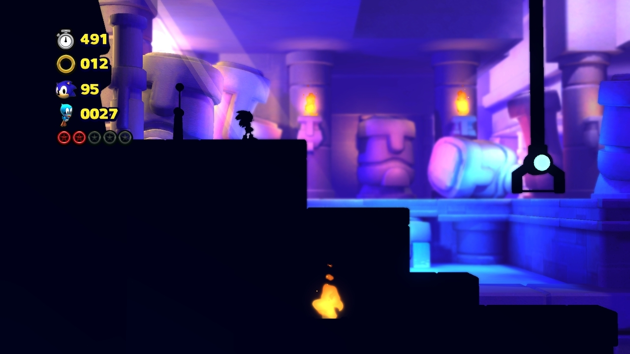 A Silhouette Stage in Sonic Lost World