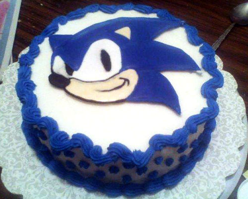 Shadow The Hedgehog Birthday Cake