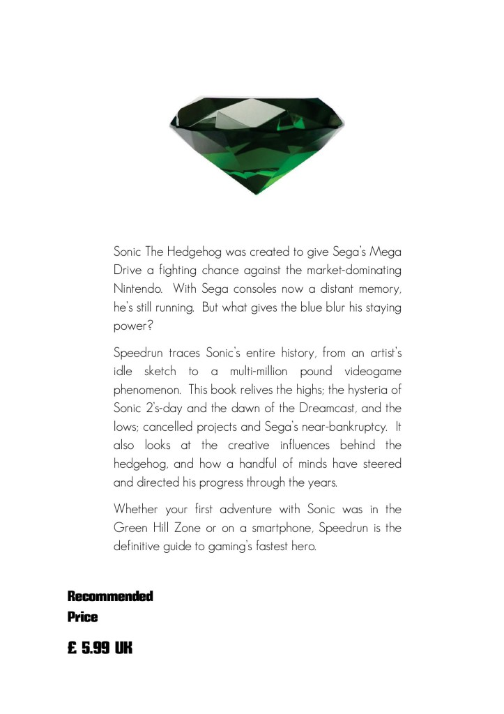Speedrun makes its ambitions clear right on the back cover.