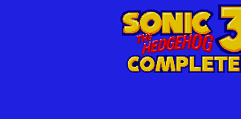 Fan Fridays: Sonic 3 Complete