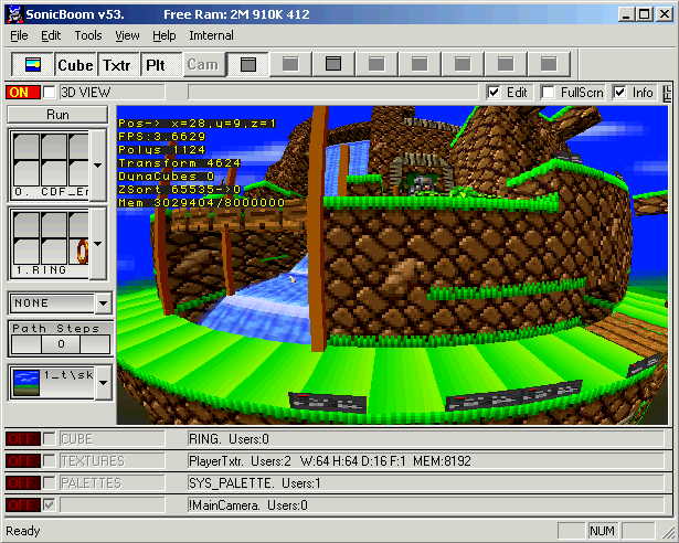 "Sonic X-treme's Level Editor, ""SonicBoom"""