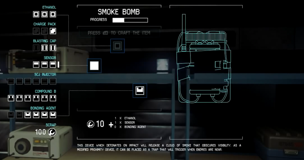 Even the HUD and menus look and feel like something out of the world of the original movie.