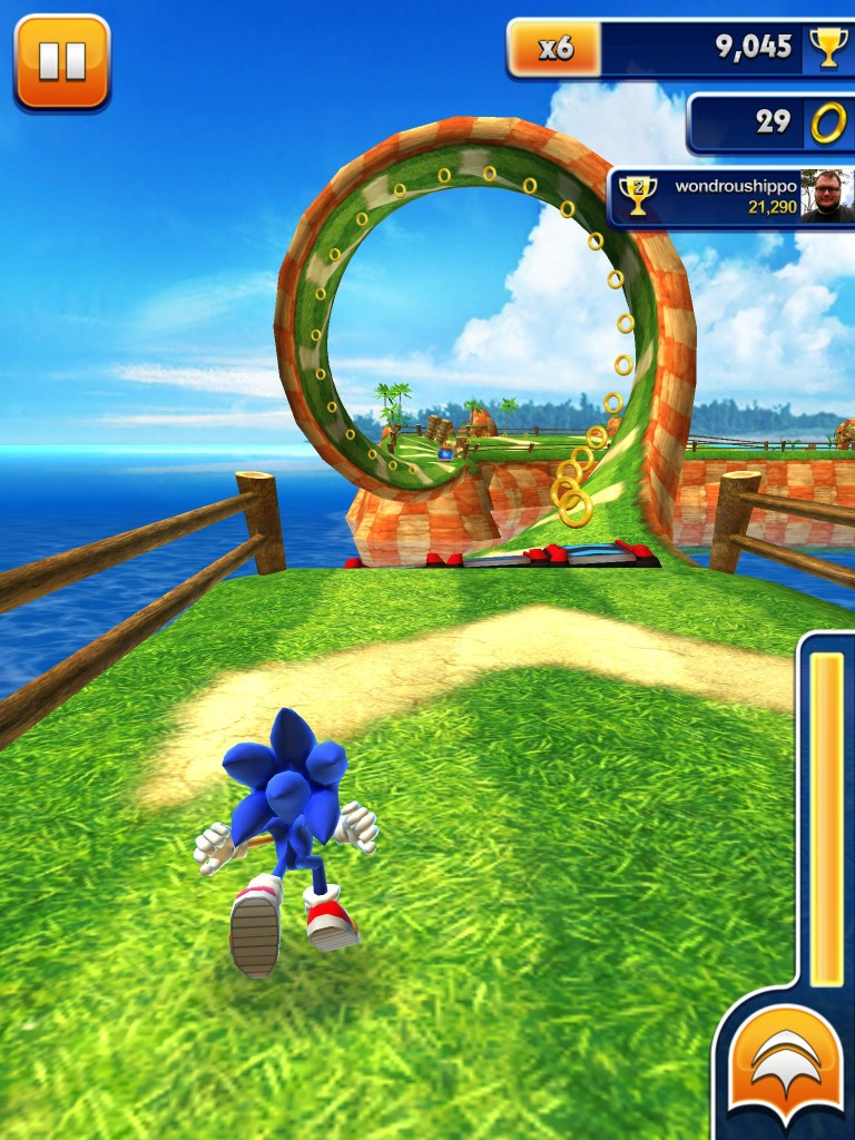 Sonic Dash thrived on mobile devices.