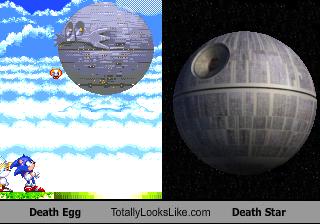 Dr. Eggman's super-original space station. Do not steal.