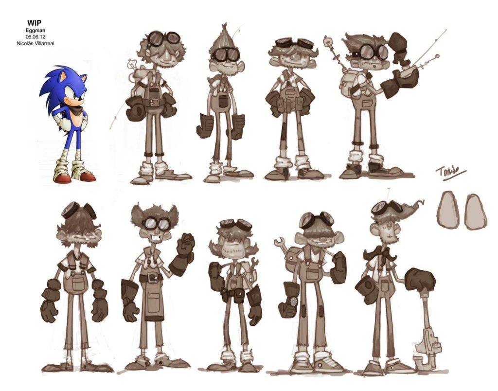 Sonic Origins Eggman concept art