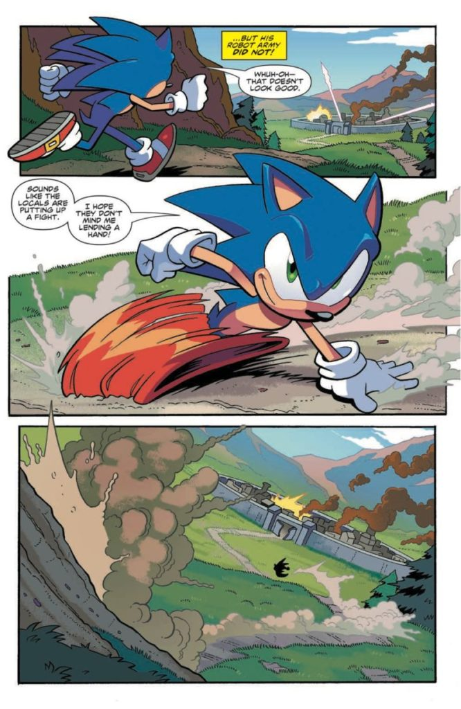 A preview of Sonic #1, page 1.