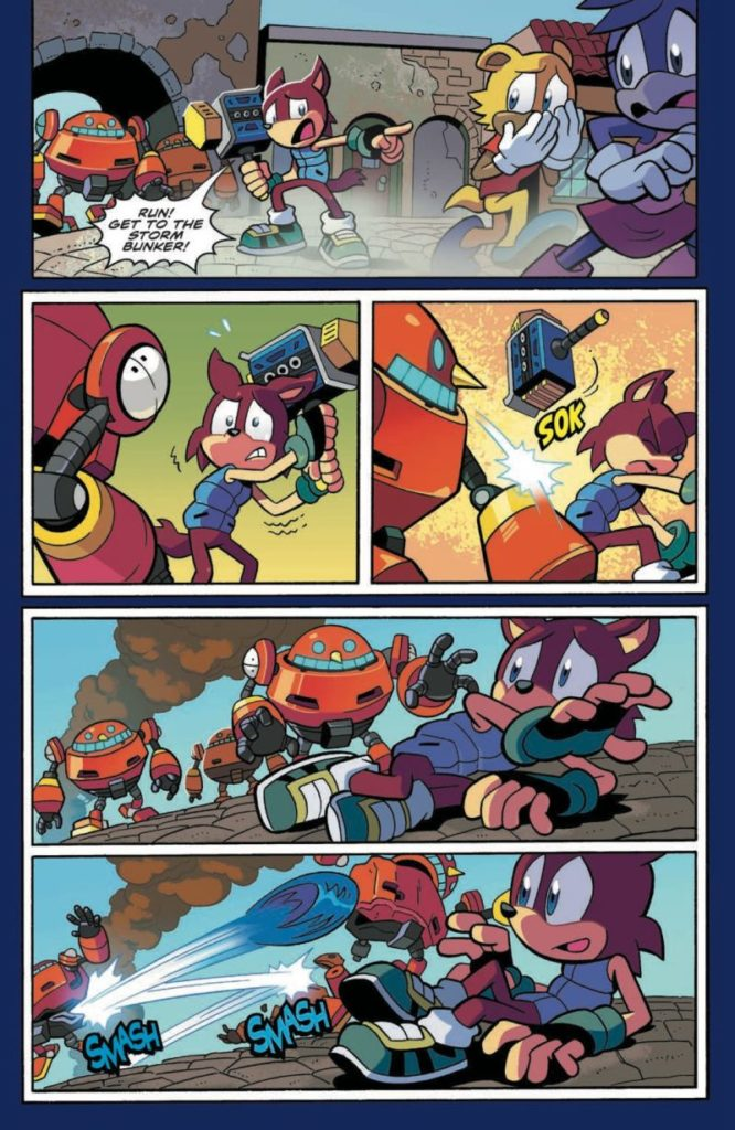 A preview of Sonic #1, page 2.