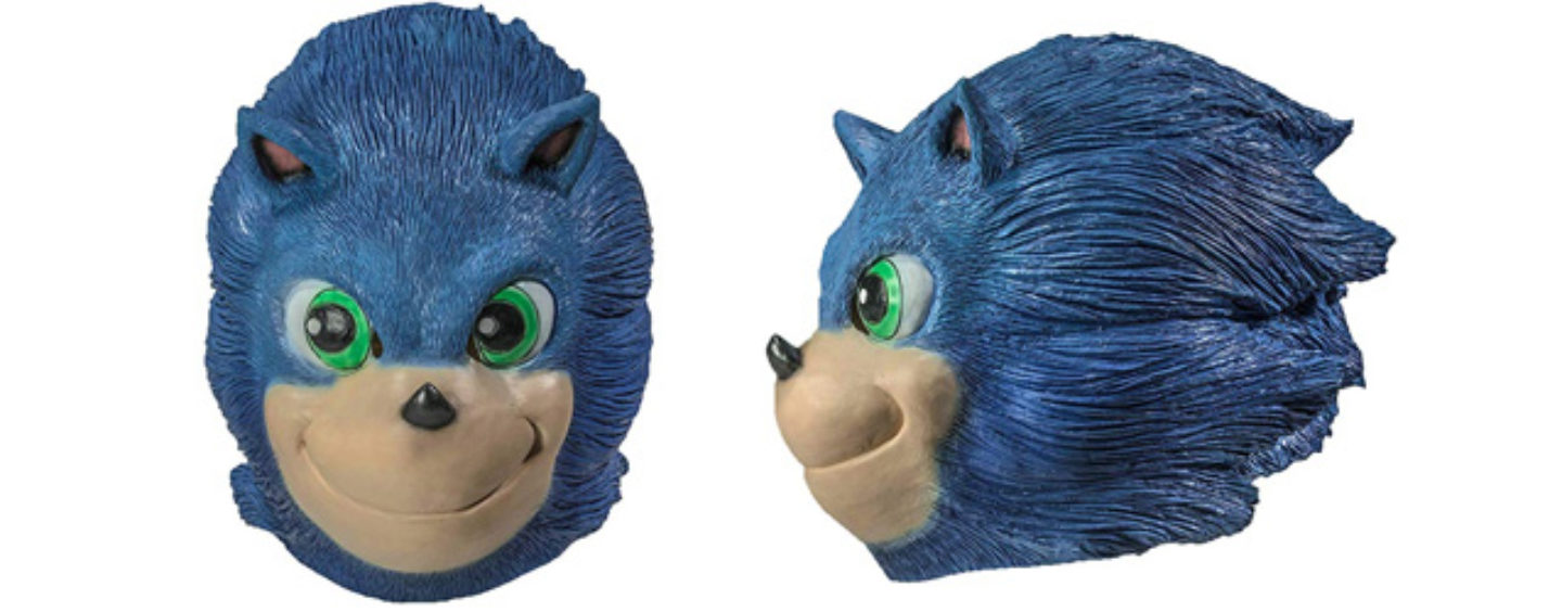 Movie Sonic Style Halloween Masks Now for Sale