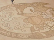 Fan Etches Sonic Artwork on Beach in France