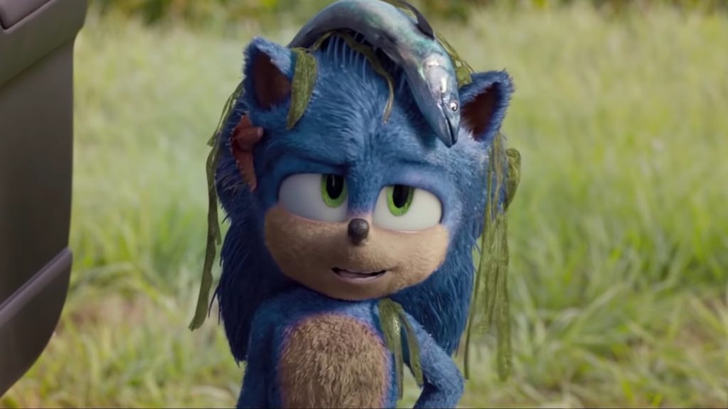 The movie implies that Sonic can't swim, which is a nice touch.